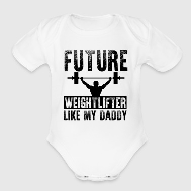 Future Weightlifter - Organic Short Sleeve Baby Bodysuit