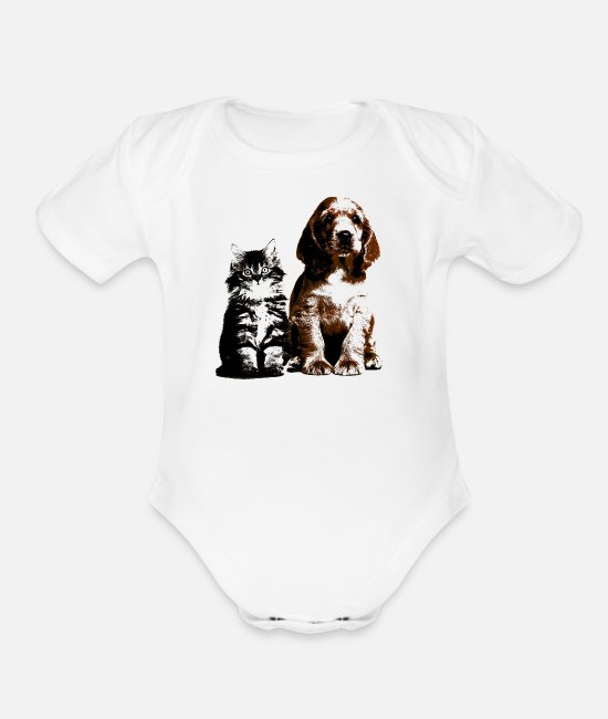 Anosmatic Animals Having Four Or Less Baby One Pieces - macros (1) Long Sleeve Shirts - Organic Short-Sleeved Baby Bodysuit white