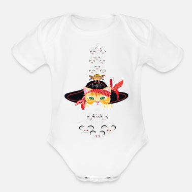 Pirate Pirate Cat - Organic Short-Sleeved Baby Bodysuit