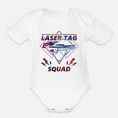 Tag Laser tag squad gun soldier sport gift - Organic Short Sleeve Baby Bodysuit