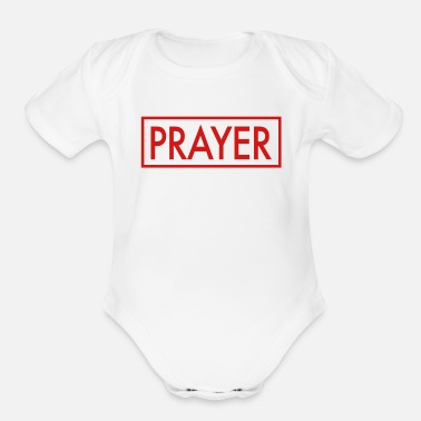 Prayer PRAYER - Organic Short-Sleeved Baby Bodysuit