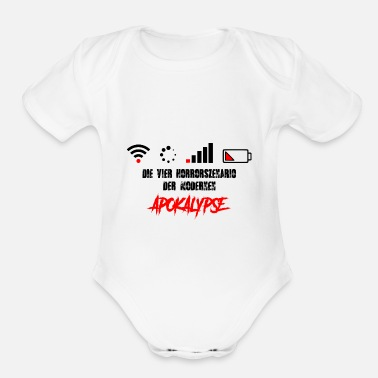 Zombie Apocalypse - WLAN - Internet - Battery off - Organic Short-Sleeved Baby Bodysuit