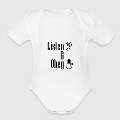 Listen and obey - Short Sleeve Baby Bodysuit