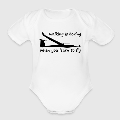 walking is boring when you learn to fly usa - Short Sleeve Baby Bodysuit