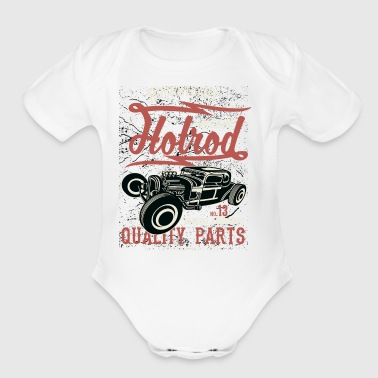 Smokin Hotrod - Short Sleeve Baby Bodysuit