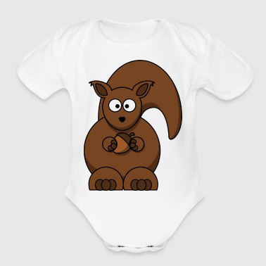 squirrel nuts - Short Sleeve Baby Bodysuit