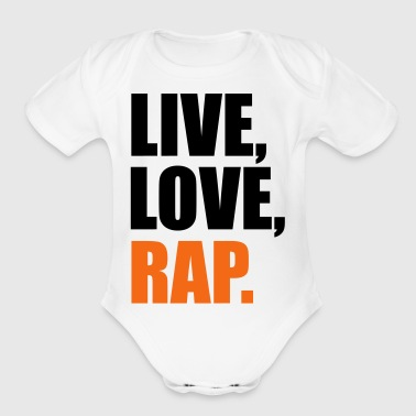 2541614 14562687 rap - Short Sleeve Baby Bodysuit