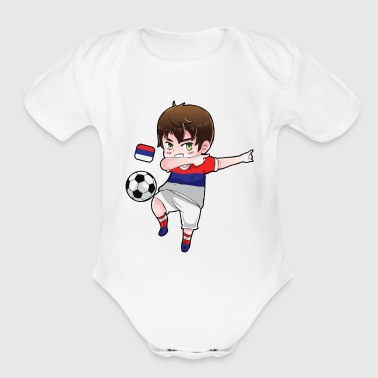 Dab Dabbing Soccer Boy World Cup Russia Gift - Organic Short Sleeve Baby Bodysuit