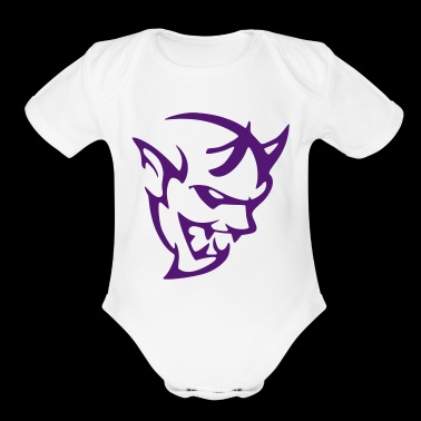 DEMON LOGO - Short Sleeve Baby Bodysuit