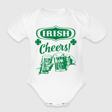 Irish Beer Cheers Ireland Green Trefoil Pub Slogan - Short Sleeve Baby Bodysuit