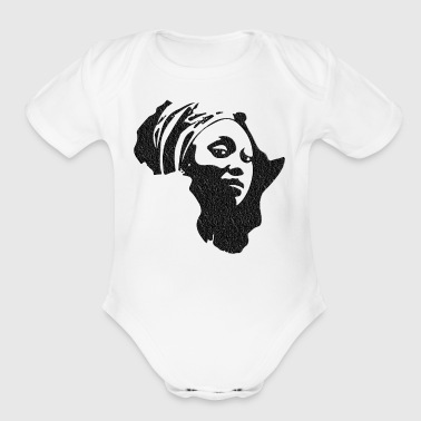 Mama Africa Distressed - Short Sleeve Baby Bodysuit