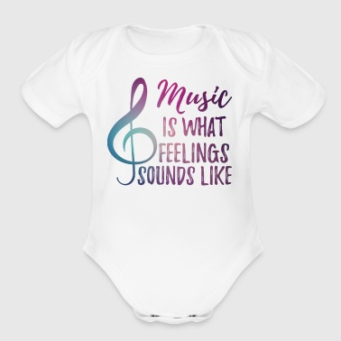Music - Sensitive - Feelings - Notekey - Gift - Short Sleeve Baby Bodysuit