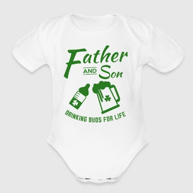 Father And Son Matching St Paticks Day - Short Sleeve Baby Bodysuit