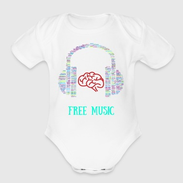free music - Short Sleeve Baby Bodysuit