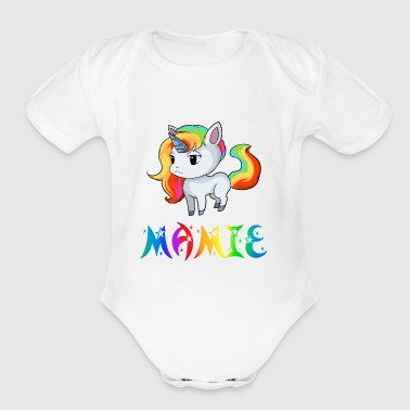 Mamie Unicorn - Short Sleeve Baby Bodysuit