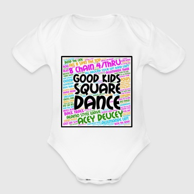 Good Kids Square Dance - Short Sleeve Baby Bodysuit