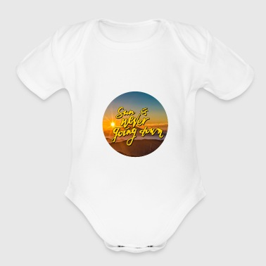 Sun is never going down V2.0 - Short Sleeve Baby Bodysuit