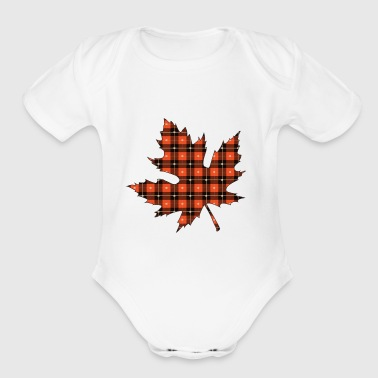 maple leaf - Short Sleeve Baby Bodysuit
