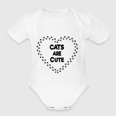 cats are cute - Short Sleeve Baby Bodysuit