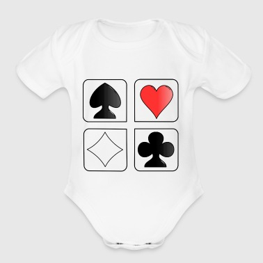 playing cards - Short Sleeve Baby Bodysuit