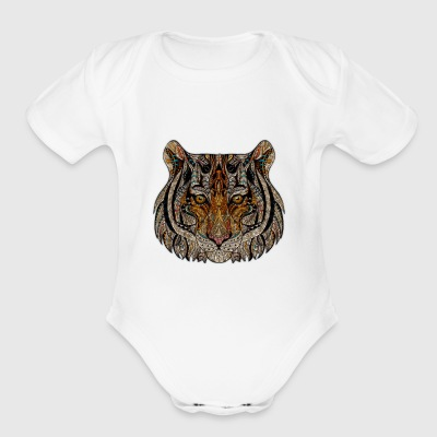 Raggae Tiger - Short Sleeve Baby Bodysuit