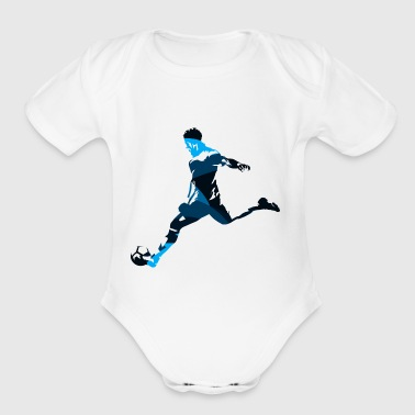 Silhouettes man soccer player sport vector image - Short Sleeve Baby Bodysuit