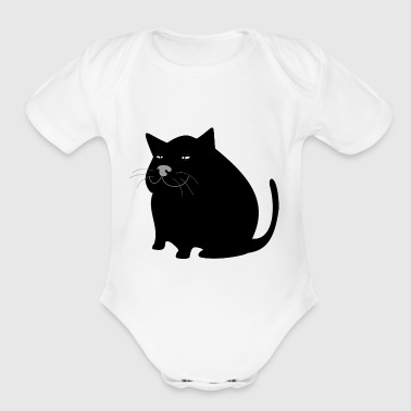 cat - Short Sleeve Baby Bodysuit