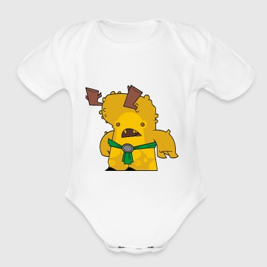 Jimmy inspired creature 2 - Short Sleeve Baby Bodysuit