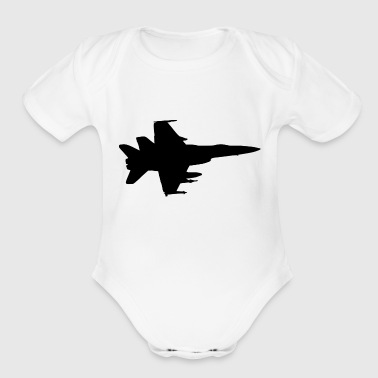 Airplane Fighter Jet Pilot Gift Idea - Organic Short Sleeve Baby Bodysuit