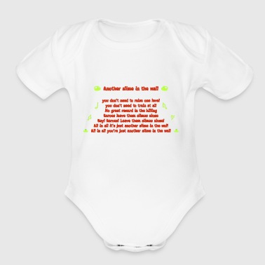 Another Slime in the wall - Back - Red - Short Sleeve Baby Bodysuit