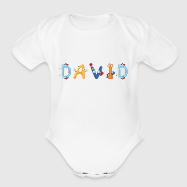 David - Organic Short Sleeve Baby Bodysuit