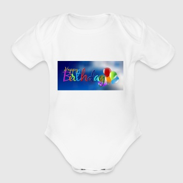 birthday - Short Sleeve Baby Bodysuit