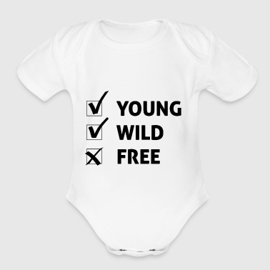 Young Wild and Free / Gift Idea - Short Sleeve Baby Bodysuit