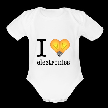 I love Electronics / Gift Idea - Short Sleeve Baby Bodysuit