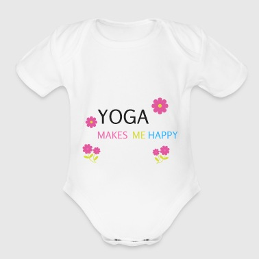 YOGA make me happy Meditation present gift - Short Sleeve Baby Bodysuit