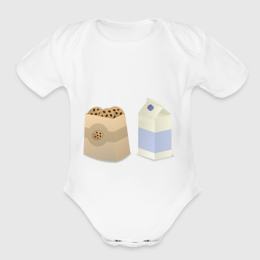 cookie and milk - Short Sleeve Baby Bodysuit