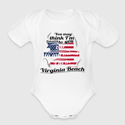 THERAPIE URLAUB AMERICA USA TRAVEL Virginia Beach - Short Sleeve Baby Bodysuit