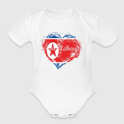 HOME ROOTS COUNTRY GIFT LOVE North korea - Short Sleeve Baby Bodysuit