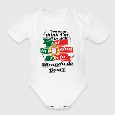 URLAUB HOME ROOTS TRAVEL I M IN Portugal Miranda d - Short Sleeve Baby Bodysuit