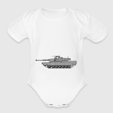 Tank M1 Abrams side - Short Sleeve Baby Bodysuit