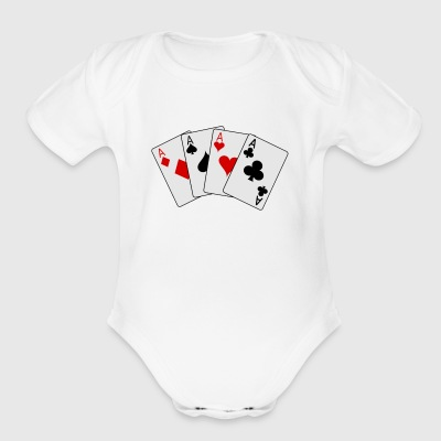 cards 20clip 20art playing card2 - Short Sleeve Baby Bodysuit