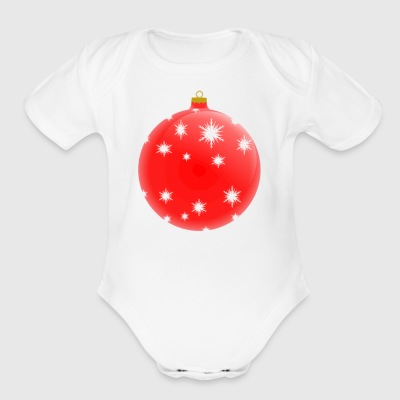 Christmas Ornament 3 - Short Sleeve Baby Bodysuit