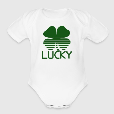 Lucky Shamrock - Short Sleeve Baby Bodysuit
