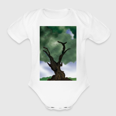 tree - Short Sleeve Baby Bodysuit