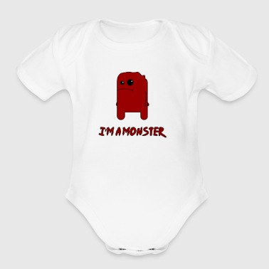 i m a monster - Short Sleeve Baby Bodysuit