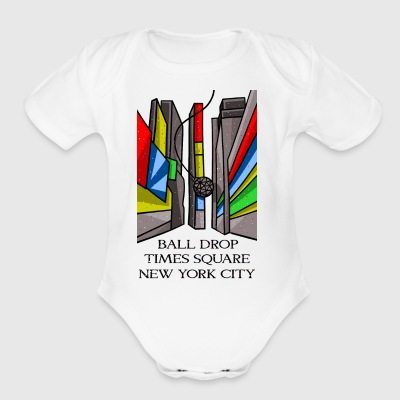 Ball drop New York City - Short Sleeve Baby Bodysuit