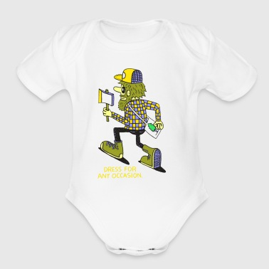 Dress for any occasion - Short Sleeve Baby Bodysuit