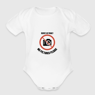 no pictures please - Organic Short Sleeve Baby Bodysuit
