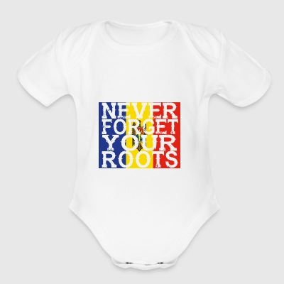 never forget roots home Moldawien - Short Sleeve Baby Bodysuit