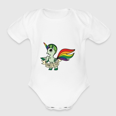 Feminist as fuck Unicorn - Short Sleeve Baby Bodysuit